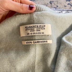 AllSaints Mint Cashmere Sweater